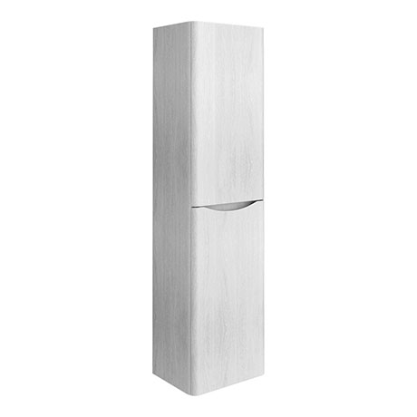 Ronda White Ash Tall Wall Hung Storage Unit - 1500mm High