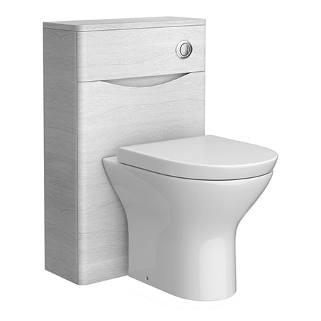Ronda White Ash WC Unit - 500mm Wide