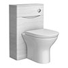 Ronda White Ash WC Unit - 500mm Wide Medium Image