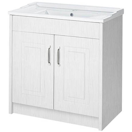 810mm Traditional White Ash Vanity Unit