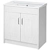 810mm Traditional White Ash Vanity Unit profile small image view 1