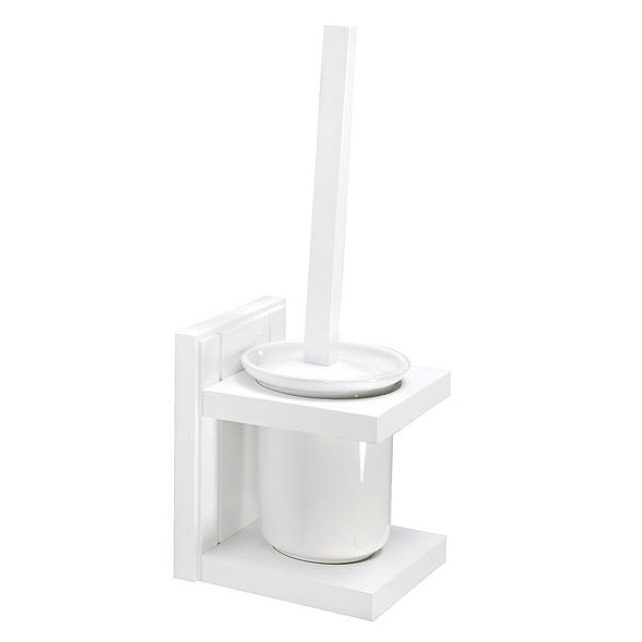 Croydex - Maine Toilet Brush & Holder - White Pine Wood - WA972422 Large Image