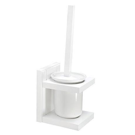 Croydex - Maine Toilet Brush & Holder - White Pine Wood - WA972422