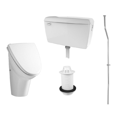 RAK Concealed Urinal Pack with 1 Washington Urinal Bowl