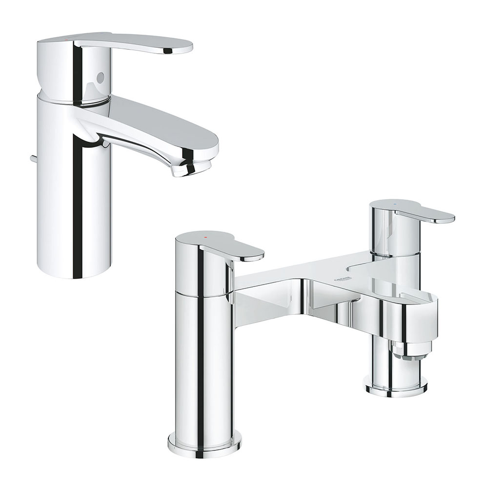 Grohe Wave Tap Package (Bath + Basin Tap)
