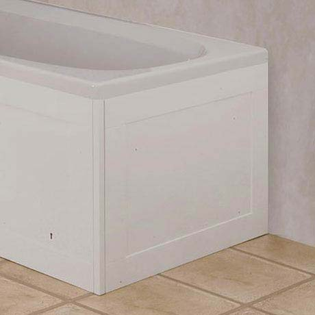 Croydex Unfold 'N' Fit End Bath Panel - Gloss White - WB995022 profile large image view 1