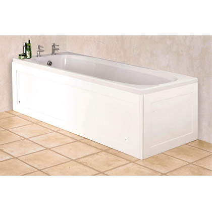Croydex Unfold N Fit Gloss White Bath Panel with Lockable Storage - Front 1680mm Large Image