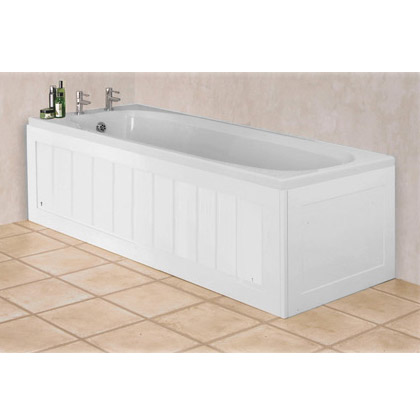 Croydex Unfold N Fit White Wood Bath Panel With Lockable