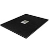 900 x 900mm Black Slate Effect Square Shower Tray profile small image view 1