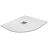 800 x 800mm White Slate Effect Quadrant Shower Tray profile small image view 1