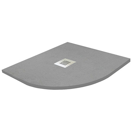 900 x 900mm Graphite Slate Effect Quadrant Shower Tray