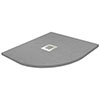 900 x 900mm Grey Slate Effect Quadrant Shower Tray profile small image view 1