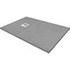 1400 x 900mm Grey Slate Effect Rectangular Shower Tray profile small image view 1