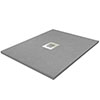 900 x 900mm Grey Slate Effect Square Shower Tray profile small image view 1