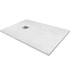 1400 x 800mm White Slate Effect Rectangular Shower Tray profile small image view 1