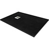 1600 x 800mm Black Slate Effect Rectangular Shower Tray profile small image view 1