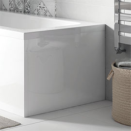 WBS301 Acrylic End Panel for Milan L-Shaped Shower Baths