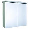 Croydex - Thames Double-Door Illuminated Mirror Cabinet - White MDF - WC146122E profile small image view 1