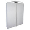 Croydex Sudbury Hang N Lock Double Door Illuminated Mirror Cabinet with Shaver Socket 700 x 600mm - WC147069E profile small image view 1