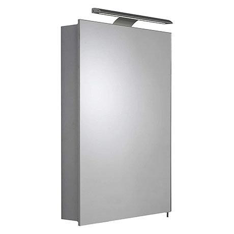 Croydex Madison Hang N Lock Single Door Illuminated Mirror Cabinet with Shaver Socket 700 x 500mm -