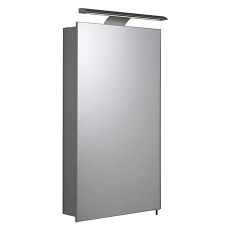 Croydex Jefferson Hang N Lock Single Door Illuminated Mirror Cabinet with Shaver Socket 700 x 400mm