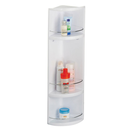 Croydex Compact 3-Tier ABS Bathroom Storage Unit - White - WC258022 profile large image view 1