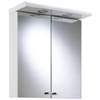 Croydex Shire 2 Door Mirror Cabinet with Light & Shaver Socket - White - WC266222E profile small image view 1