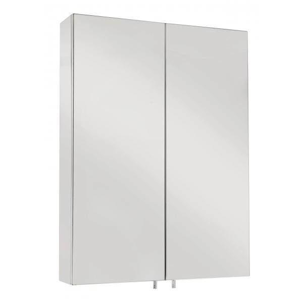 Croydex Anton Double Door Stainless Steel Mirrored Bathroom Cabinet - WC756105