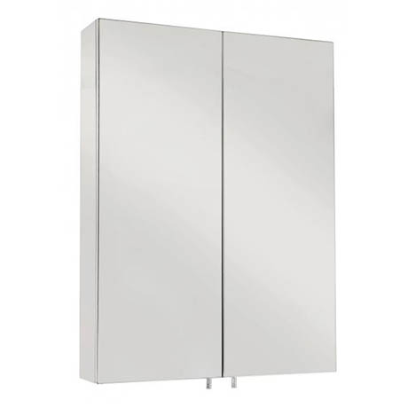 Croydex Anton Double Door Stainless Steel Mirrored Bathroom Cabinet - WC756105