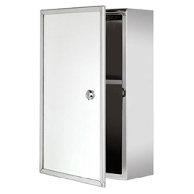 Croydex Trent Lockable Medicine Cabinet - Stainless Steel - WC846005 Large Image