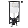 Crosswater - 1.14m Height Ultra Slim Wall Hung WC Support Frame - WCF118X50-VS profile small image view 1