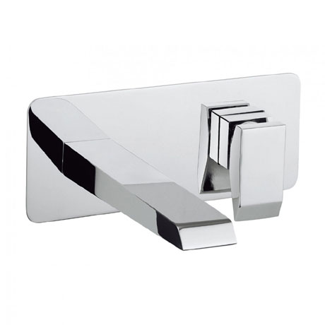 Crosswater - Wedge Wall Mounted 2 Hole Set Basin Mixer - WD121WNC