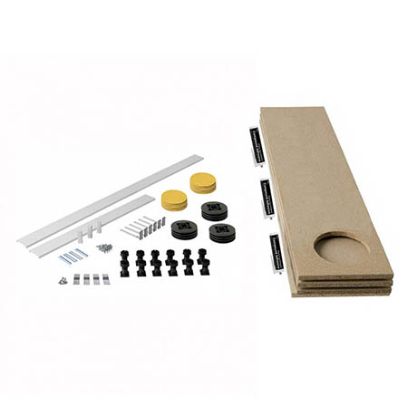 MX Panel Riser Kit + Baseboard for Classic Square/Rectangle & Pentangle Shower Trays (up to 2000mm)