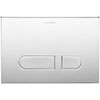 Duravit DuraSystem A1 Flush Plate - Chrome - WD5001021000 profile small image view 1