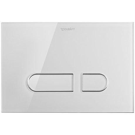 Duravit DuraSystem A1 Glass Flush Plate - White - WD5002012000