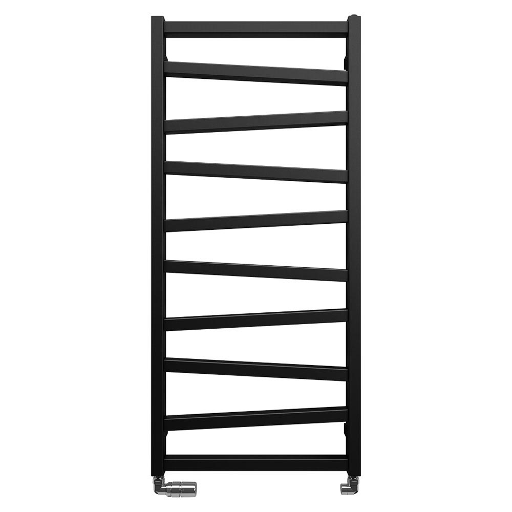 Bauhaus Wedge Towel Rail - 500 x 1096mm - Metallic Black Matte Large Image
