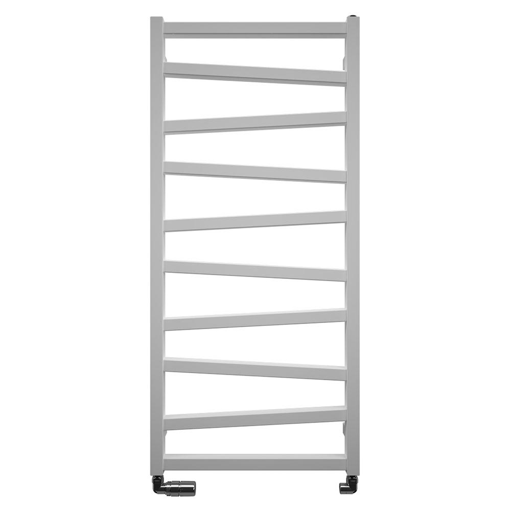 Bauhaus Wedge Towel Rail - 500 x 1096mm - Soft White Matte Large Image