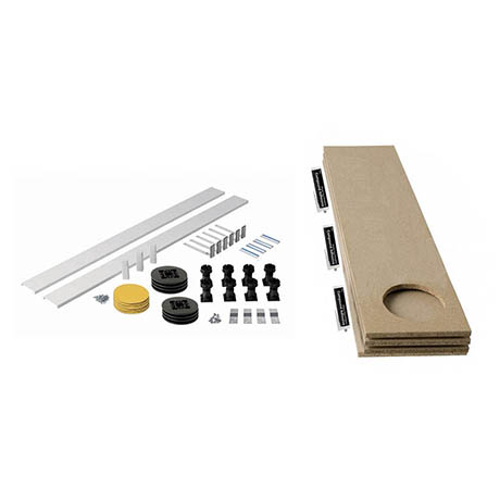 MX Panel Riser Kit + Baseboard for Classic Square/Rectangle & Pentangle Shower Trays (up to 1200mm)