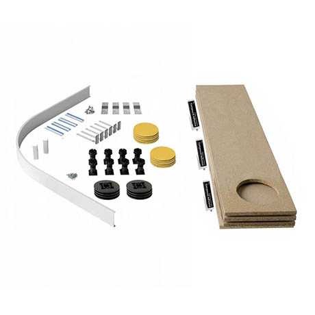 MX Panel Riser Kit + Baseboard for Classic Quadrant & Offset Quadrant Shower Trays (up to 1200mm)