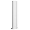 Urban 1800 x 300mm Vertical Double Panel White Radiator profile small image view 1