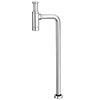 Round Modern Chrome Basin Bottle Trap + Tube to Floor Pipe Set profile small image view 1