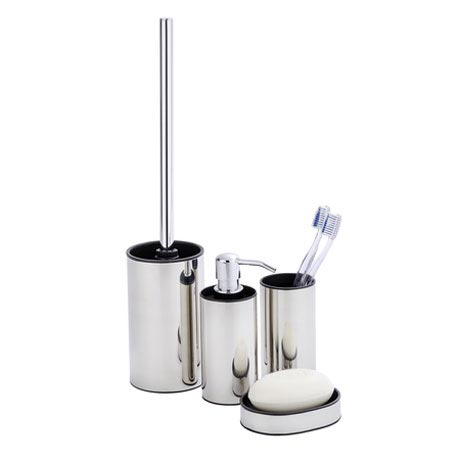 Wenko Detroit Bathroom Accessories Set - Stainless Steel Large Image