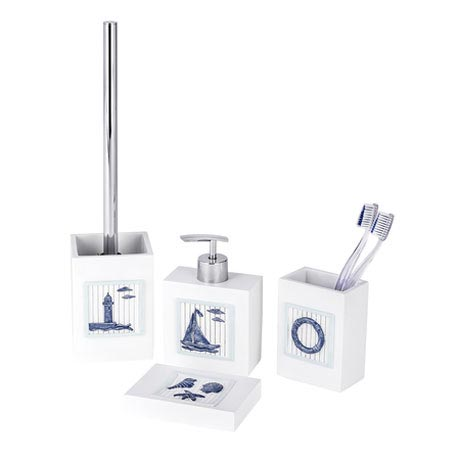 Wenko nautic bathroom accessories set from victorian for Victorian bathroom accessories set