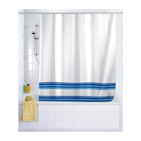 Wenko Blue Stripes Peva Shower Curtain At Victorian Plumbing Uk