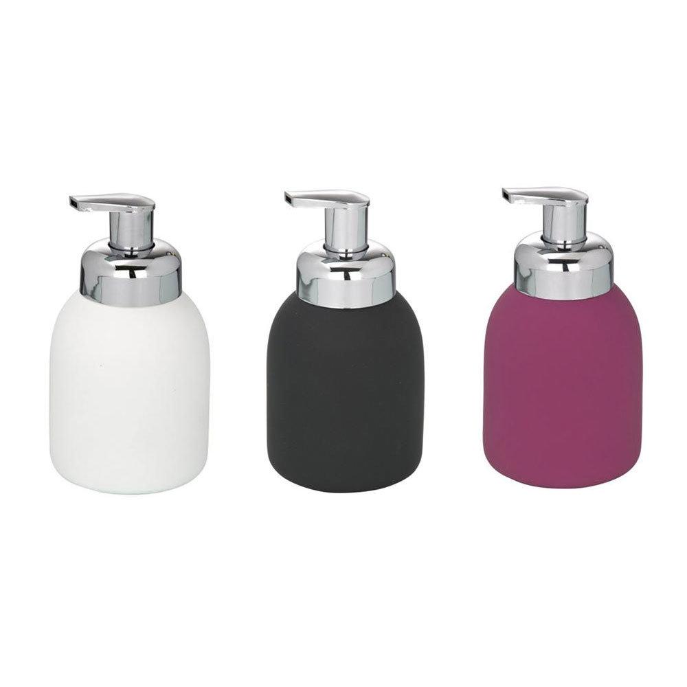 Wenko Bottle Ceramic Foam Dispenser - 3 Colour Options Large Image