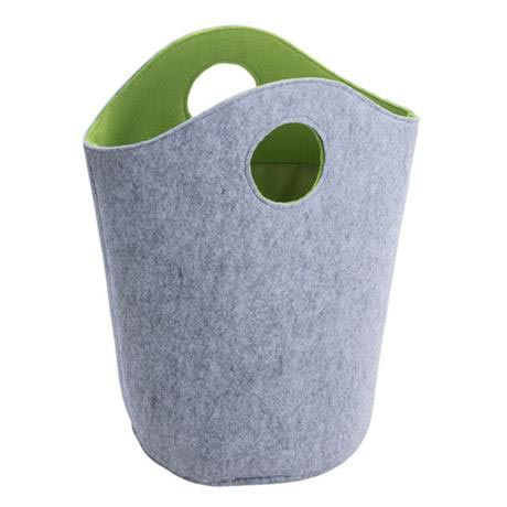 Wenko Felt Universal Laundry Bin - Grey/Green - 2 Size Options