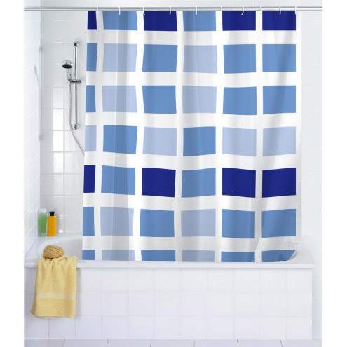 Wenko Mosaic PEVA Shower Curtain - W1800 x H2000mm - 19140100 profile large image view 1