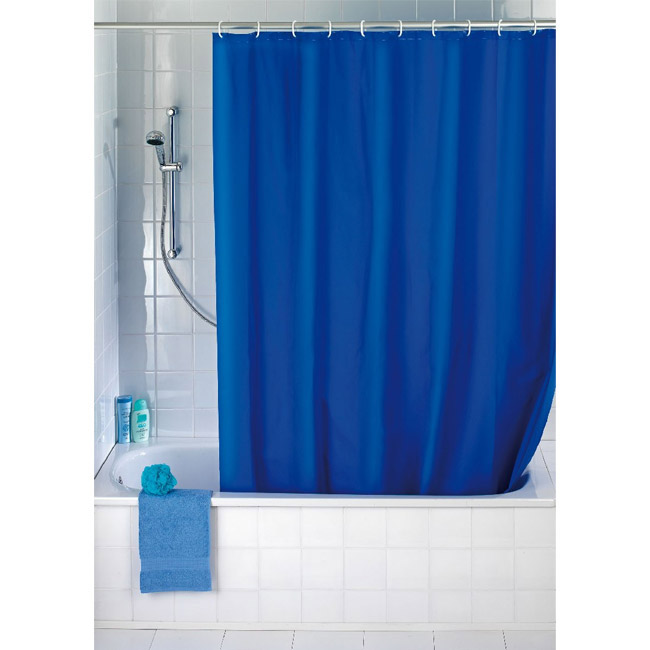 Wenko Night Blue Polyester Shower Curtain - W1800 x H2000mm - 19149100 Large Image