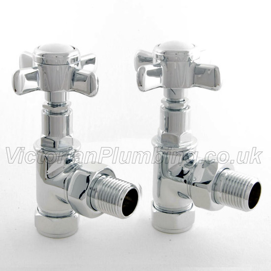 Westminster Crosshead Radiator Valves - Angled Large Image