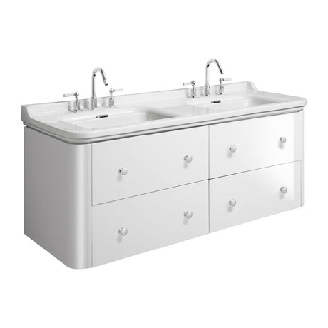 Bauhaus Waldorf 1500mm Wall Hung Vanity Unit with Knobs